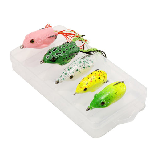 OhCoolstule™Fishing Lure Set Dual Hook Ray Frog Lures 5pcs - OhCoolstule