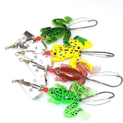OhCoolstule™ Fishing Lure Artificial Bait Rubber Frog 4 Colors 11cm 6.2g - OhCoolstule