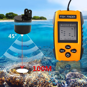 OhCoolstule™ Fishing Portable Sonar Alarm Fish Finder 100M  LCD Fish Finders Echo Sounder - OhCoolstule