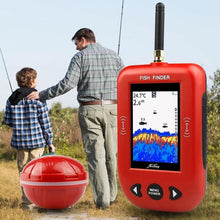 Load image into Gallery viewer, OhCoolstule™ Fishing Fish Finder 433Mhz 200M Distance Russian Protable Sonar Color LCD Screen Echo Sounder Fishing - OhCoolstule
