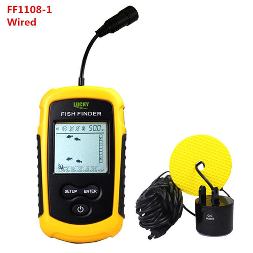 OhCoolstule™ Fishing Portable Wireless Fish Finder Sonar Sensor Transducer Echo Sounder Alarm Detector - OhCoolstule