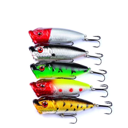 OhCoolstule™Fishing Lure Kits Popper Floating Crankbaits 5Pcs 7.3cm - OhCoolstule