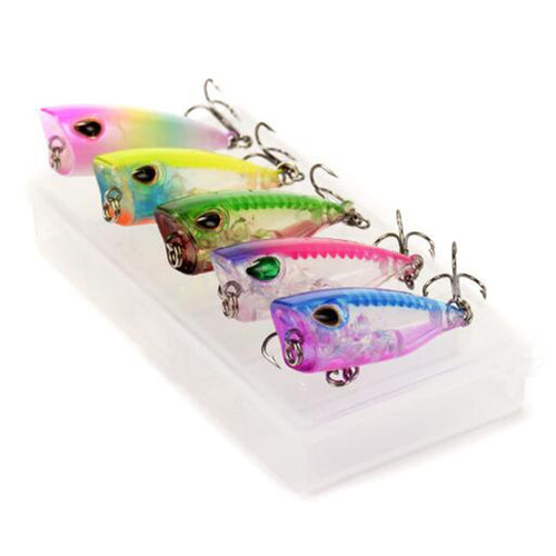 OhCoolstule™Fishing Lure Kit Set CrankBaits Mini Popper 5pcs - OhCoolstule