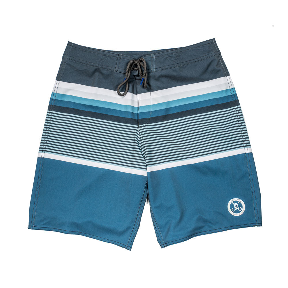 Long Rigger Reversible Swim Trunk - Blue