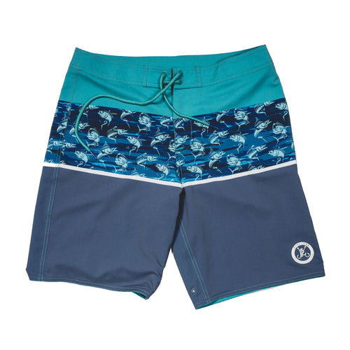 Long Rigger Reversible Swim Trunk - Fish