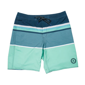 Long Rigger Reversible Swim Trunk - Green
