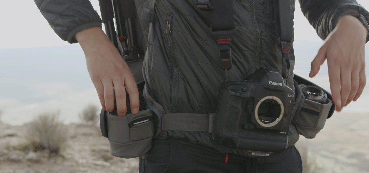hip holster and camera