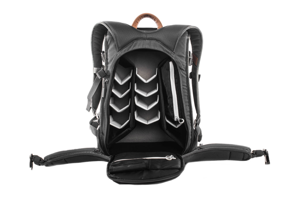 graphite holdland backpack open front