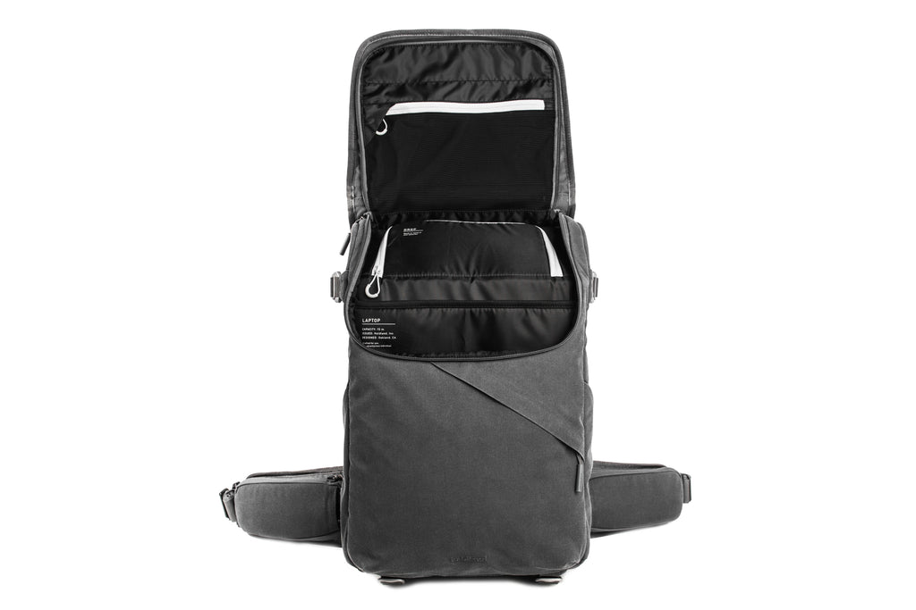 graphite holdland backpack open zipper