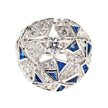 "Chanel High Jewelry 18k White Gold, Sapphire and Diamond ""Muse"" Ring, Café Society Collection"