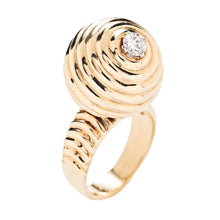 Norman Teufel 18k Yellow Gold and Diamond Spinner Ring