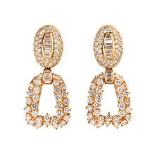Boucheron 18K Yellow Gold and Diamond Day and Night Earrings