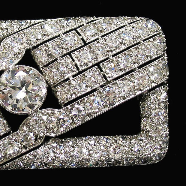 Art Deco Diamond and Platinum Brooch
