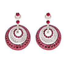 Graff Ruby and Diamond Pendant Earrings