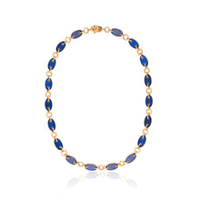Aletto Brothers Lapis Lazuli and Diamond Marine Link Necklace