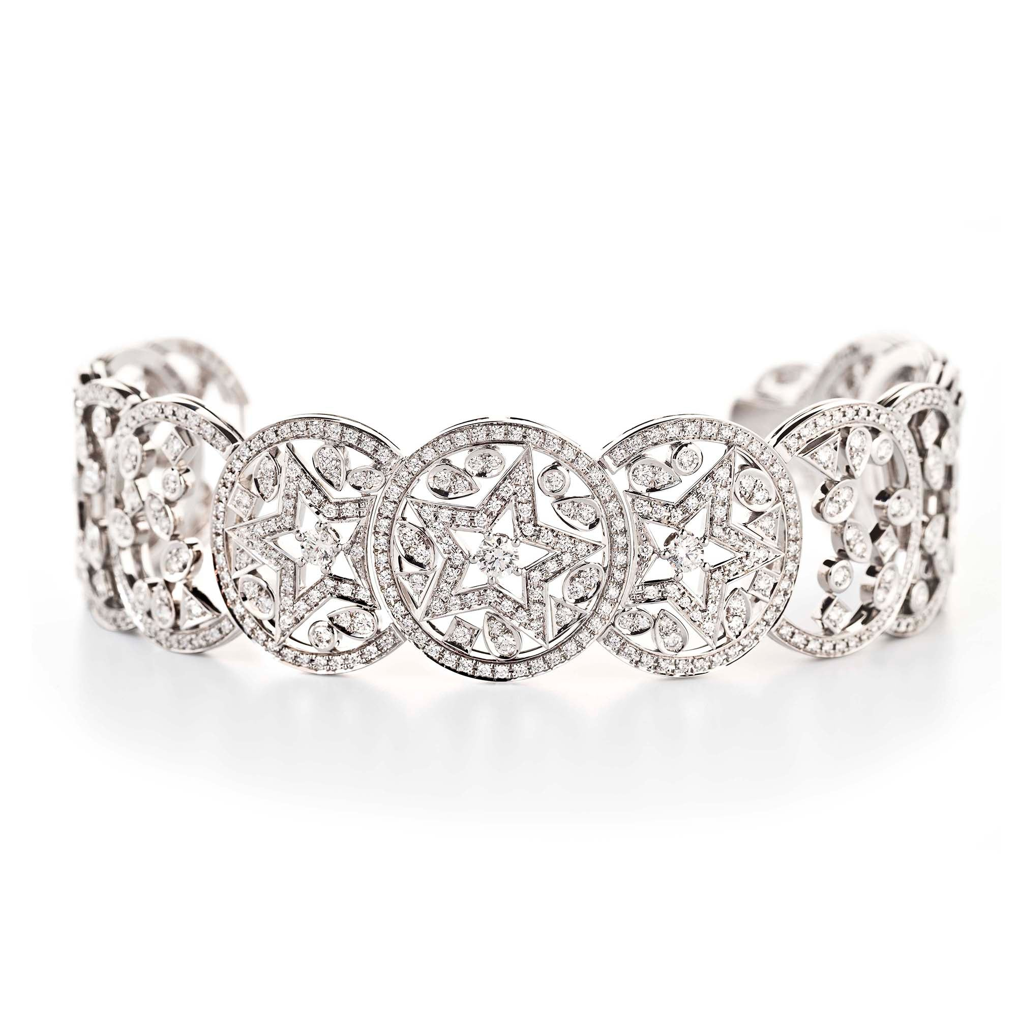 Chanel High Jewelry 18k White Gold and Diamond Bracelet, Les Intemporels Collection