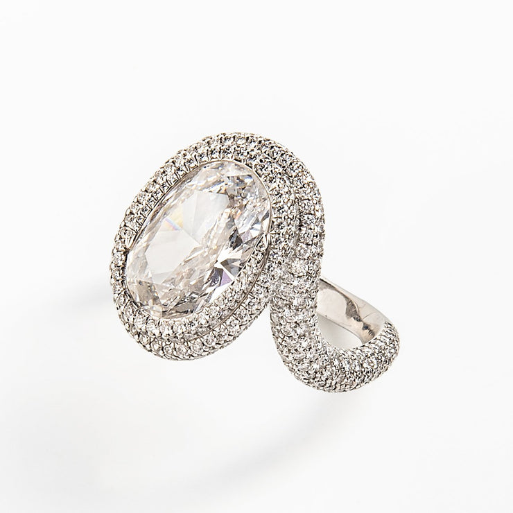 Chopard Twist Ring with Internally Flawless Oval Diamond
