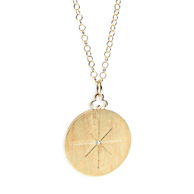 Devon Woodhill Large North Star Modern Locket