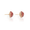 David Webb Red Enamel Dome Earrings