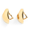 David Webb 18k Yellow Gold Scallop Form Ear Clips
