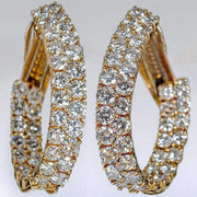 Diamond Yellow Gold Inside Out Ovals Earrings - Tiina Smith Jewelry