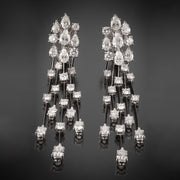 Sensationally Elegant Graff Waterfall Drop Diamond Earrings - Tiina Smith Jewelry