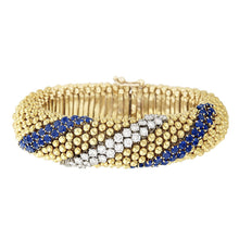 "Gold Sapphire and Diamond ""Pelouse"" Bracelet"