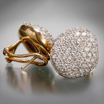 H. Stern Golden Stone Diamond Pave Earrings - Tiina Smith Jewelry