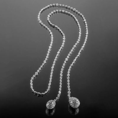 "Hammerman Diamond and 18K Gold ""Les Boules"" Lariat"