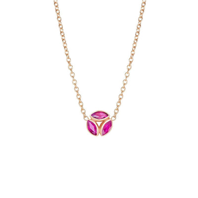 Melissa Kaye Ruby Hazel Necklace