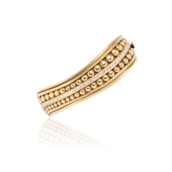 Kieselstein-Cord Gold and Diamond Caviar Bracelet