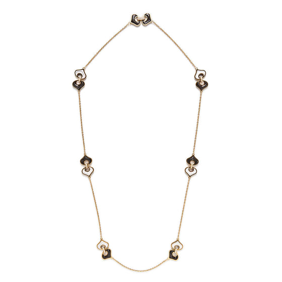Marina B 18k Yellow Gold, Mother-of-Pearl and Diamond Long Chain Necklace