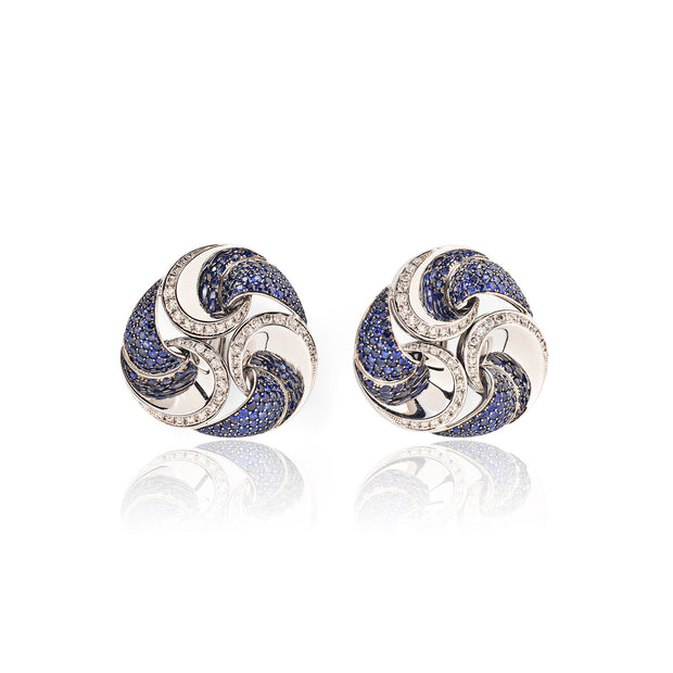 Marina B. Sapphire and Diamond Vertigo Earrings