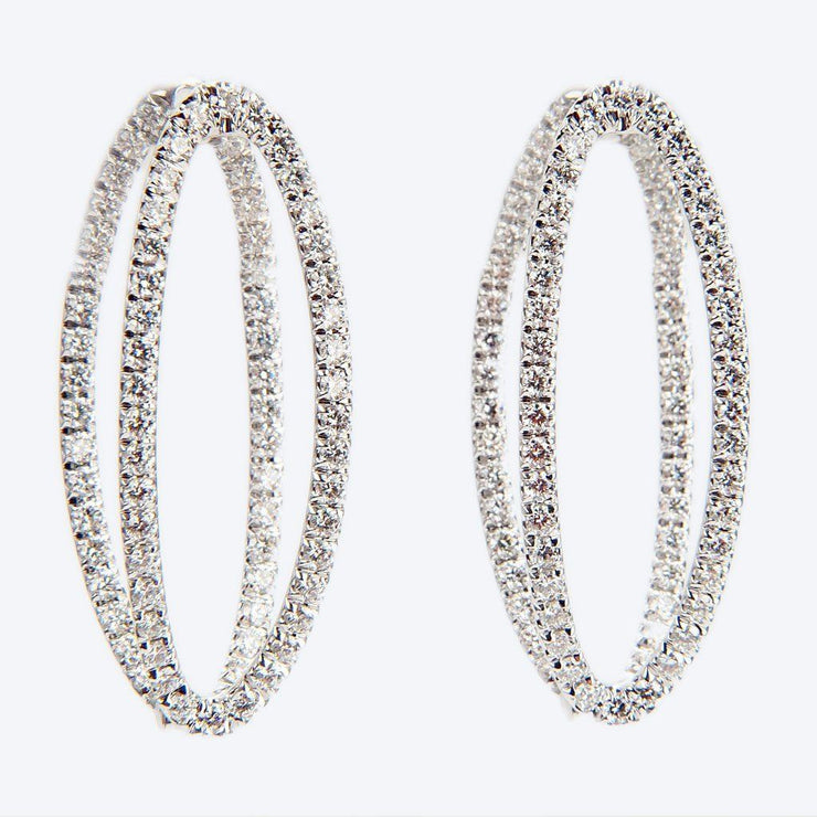 Melissa Kaye Medium Mila Diamond Earrings