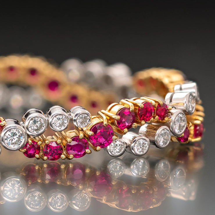 Oscar Heyman Ruby and Diamond Bracelet