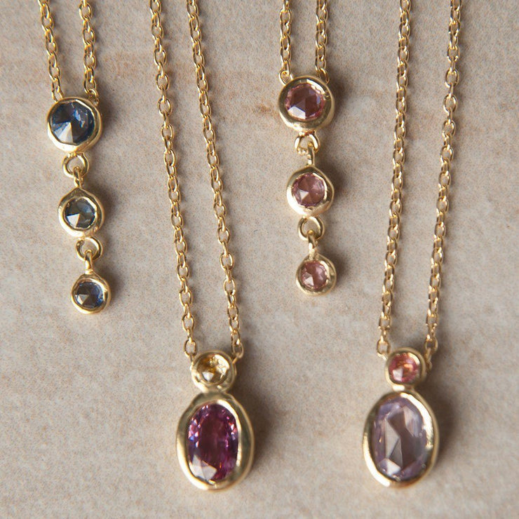 Purple & Pink Sapphire Duo Necklace - Tiina Smith Jewelry