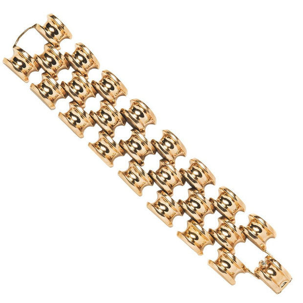 Tiffany & Co Retro 14k Yellow Gold Bracelet