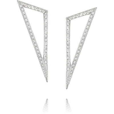 Ralph Masri Modernist Diamond Triangle Earrings