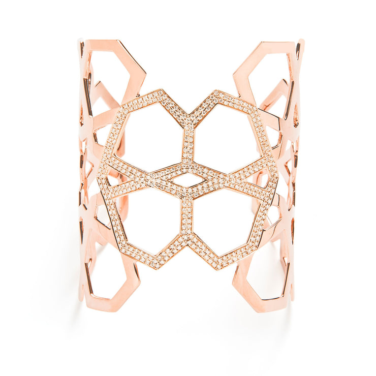 Ralph Masri Arabesque Deco Diamond Cuff