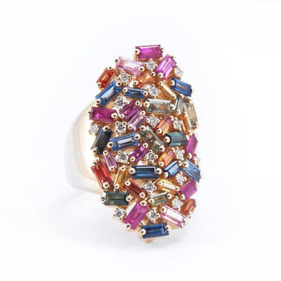 Suzanne Kalan Rainbow Shield Ring