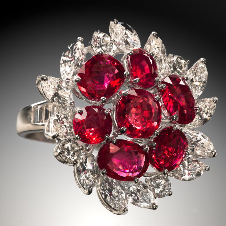 Bulgari Ruby and Diamond Ring