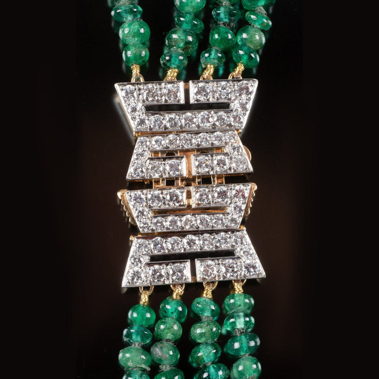 One of a Kind David Webb Emerald and Diamond Necklace - Tiina Smith Jewelry