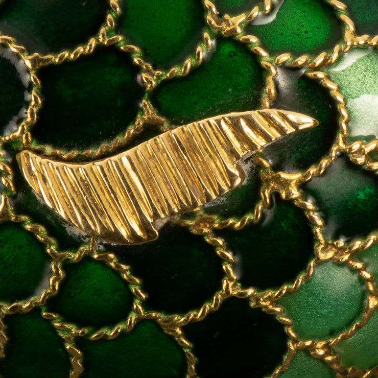 Boucheron Enamel and 18k Gold Fish Brooch