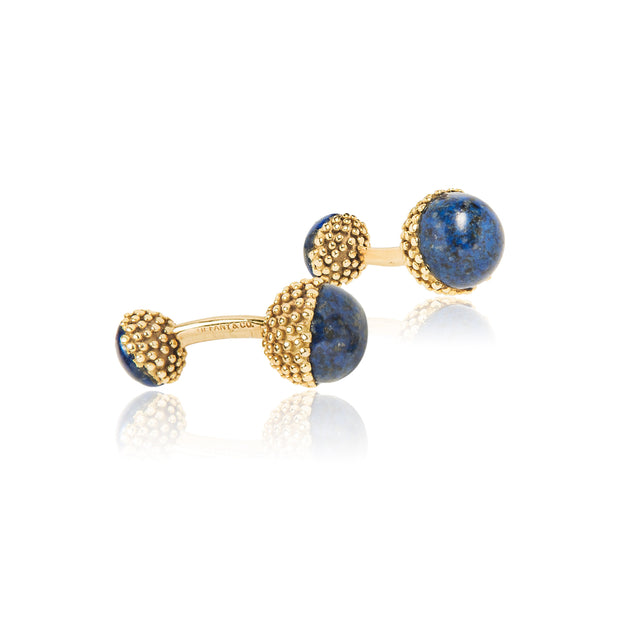 Tiffany & Co 18k Gold & Lapis Ball Cufflinks