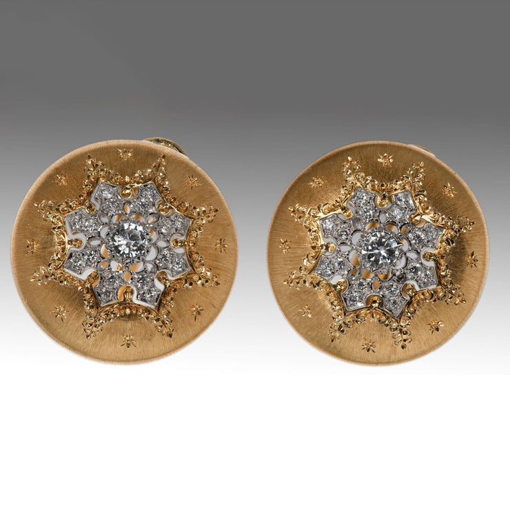 Buccellatti Button Yellow Gold Earrings - Tiina Smith Jewelry
