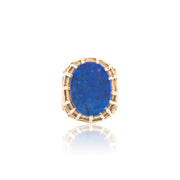 Henry Dunay Gold and Lapis Cocktail Ring
