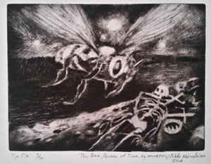 Amorphis/The Bee/Queen of Time/Etching