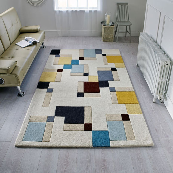 Illusion Abstract Block Rug