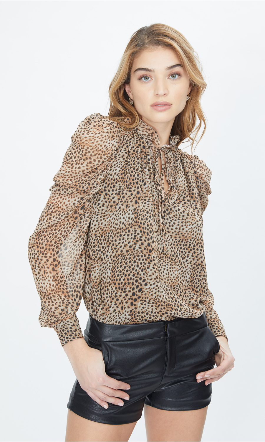 Lou Baby Cheetah Blouse