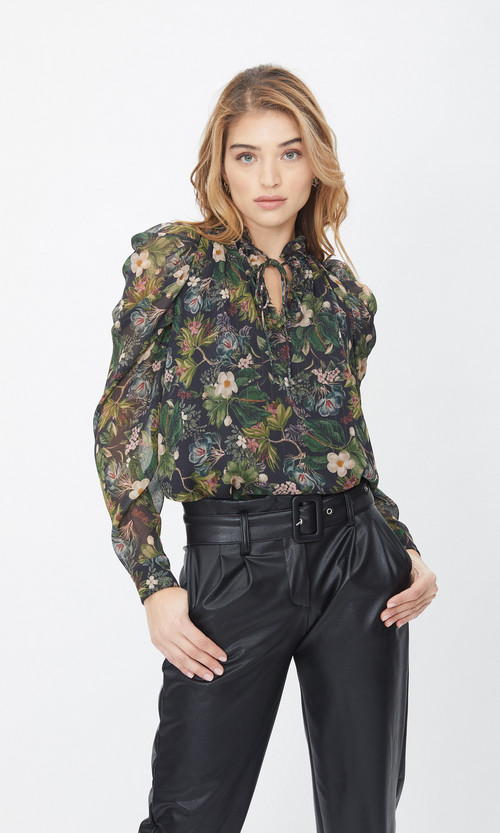 Lou Floral Jungle Blouse